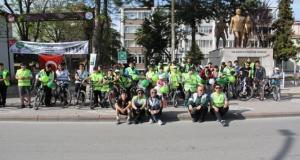 BAFRA'DA 9. YEŞİLAY BİSİKLET TURU DÜZENLENDİ