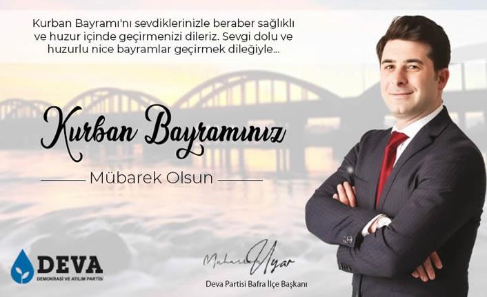 Başkan Muharrem Uyar'dan Kurban Bayramı Mesajı