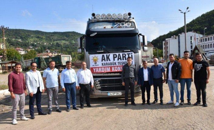 AK Parti Karabük teşkilatlarından Şenpazar'a yardım tırı