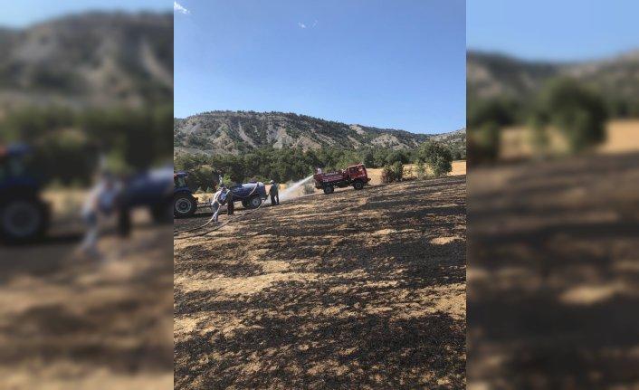 Bolu'da anız yangınında 15 dönüm alan zarar gördü