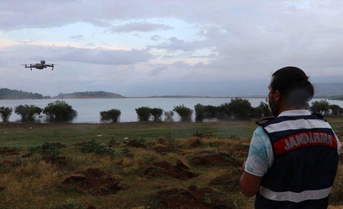 Bolu'da ormanlar jandarma tarafından termal drone ile denetleniyor