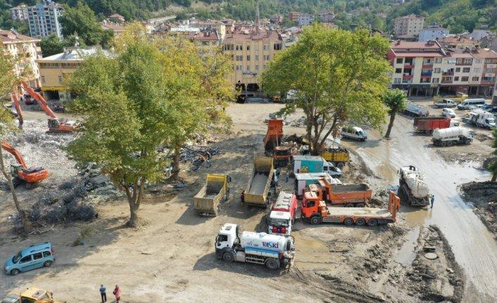 Bozkurt'taki sel felaketinin 20'nci gününde çalışmalar aralıksız sürüyor