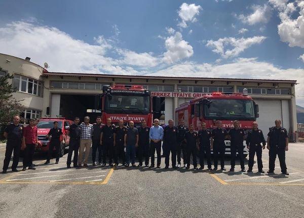 Erzurum'dan Sinop'taki sel bölgesine personel ve ekipman desteği