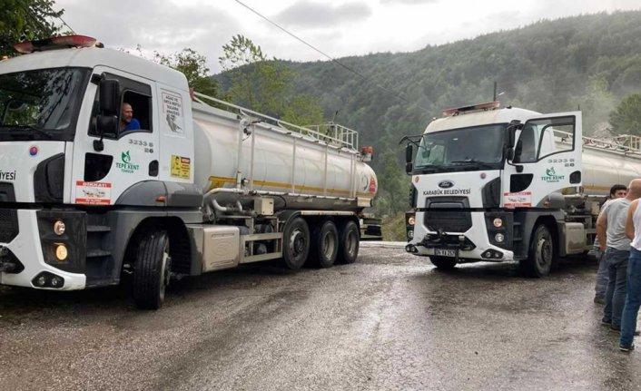 Karabük Belediyesinden sel felaketinin yaşandığı bölgeye destek