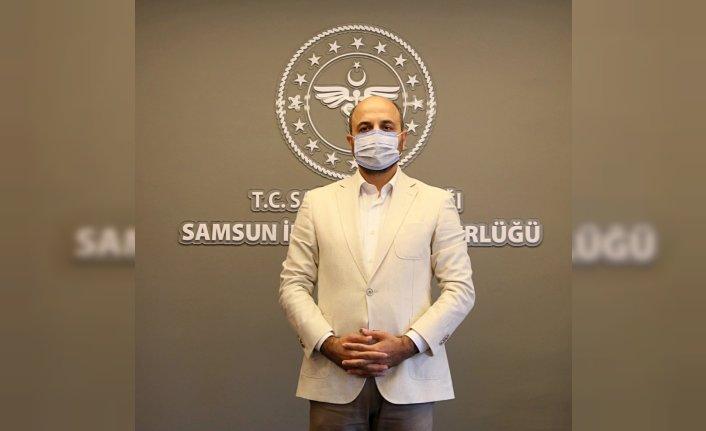 Mavi renge dönen Samsun'da hastaneye yatış oranları azaldı
