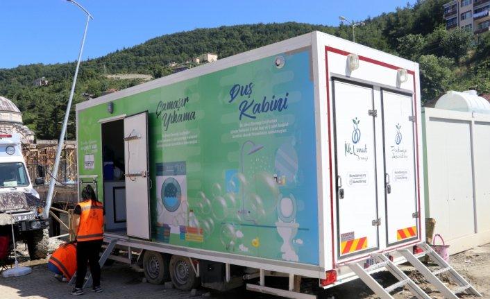 Sel felaketinin yaşandığı Bozkurt'ta mobil hijyen araçları vatandaşlara hizmet veriyor