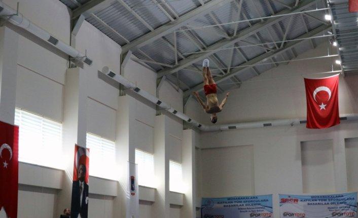 Trampolin Cimnastik Milli Takımı, hazırlıklarını Bolu'da sürdürüyor
