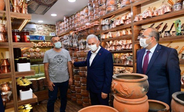 Bakan Kurum ve AK Parti Genel Başkanvekili Yıldırım, Trabzon'da ziyaretlerde bulundu