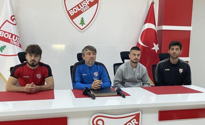 Beypiliç Boluspor oyuncuları Denizlispor maçı hazırlıklarını değerlendirdi