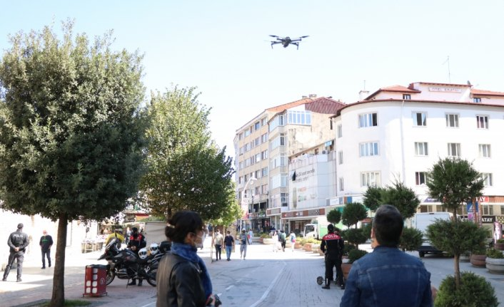 Bolu'da drone destekli Kovid-19 denetimleri artırıldı