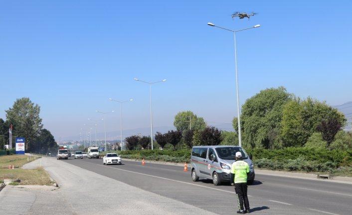 Bolu'da drone destekli trafik denetimi yapıldı