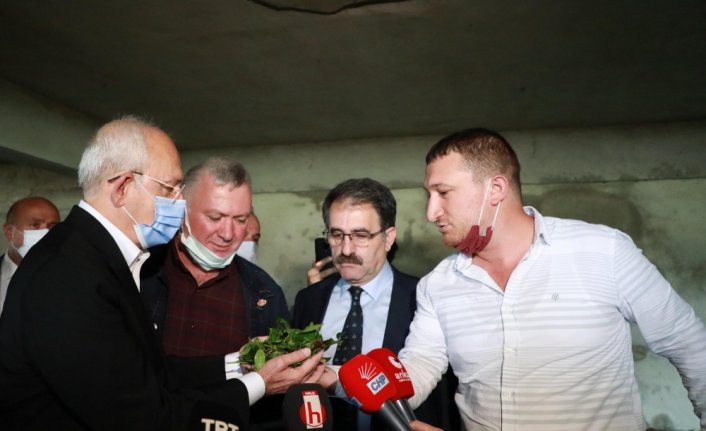 CHP Genel Başkanı Kemal Kılıçdaroğlu, Rize'de çay üreticileriyle buluştu: