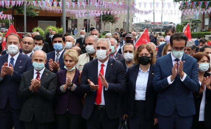 CHP'nin 98. kuruluş yıl dönümü dolayısıyla Trabzon'da tören düzenlendi