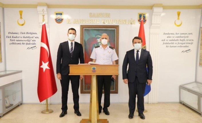 Kaymakam Büyükkaymakcı ve Saygılı'dan İl Jandarma Komutanı Ersever'e ziyaret