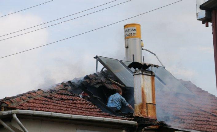 Mudurnu'da baca yangını söndürüldü