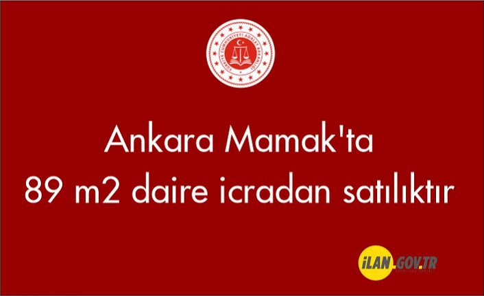 Ankara Mamak'ta 89 m² daire icradan satılıktır