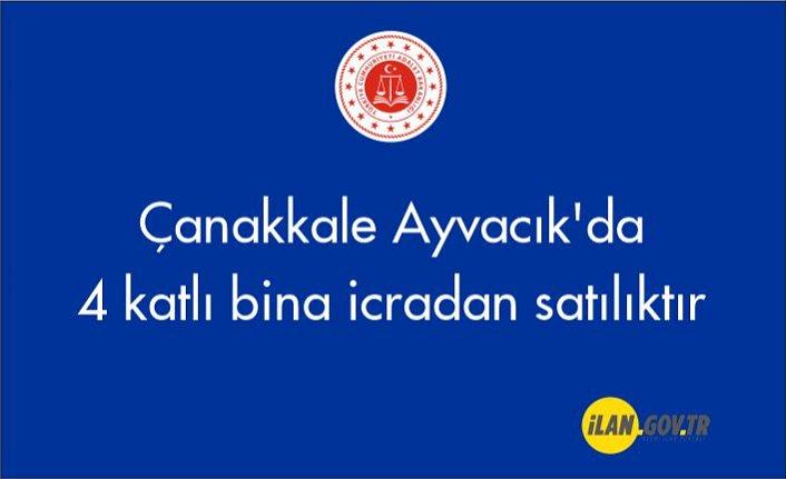 Çanakkale Ayvacık'da 4 katlı bina icradan satılıktır