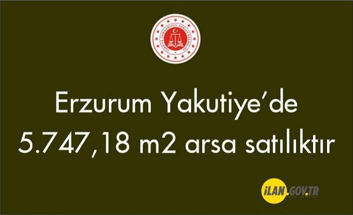 Erzurum Yakutiye Dadaş Mahallesinde 5.747,18 m² arsa icradan satılıktır