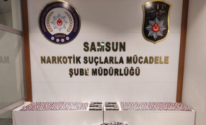 GÜNCELLEME - Samsun'da 14 bin 765 kapsül sentetik ecza hap ele geçirildi