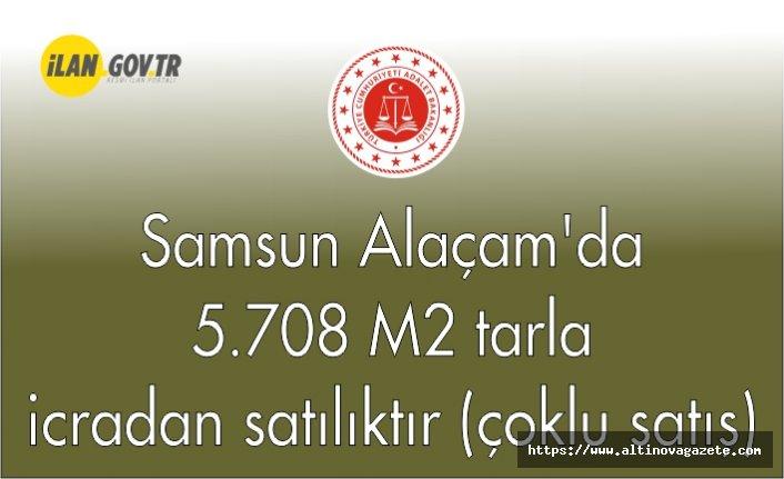 Samsun Alaçam'da 5.708 m² tarla icradan satılıktır (çoklu satış)