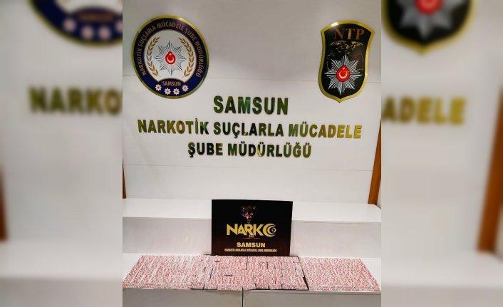 Samsun'da 2 bin 226 kapsül sentetik hap ele geçirildi