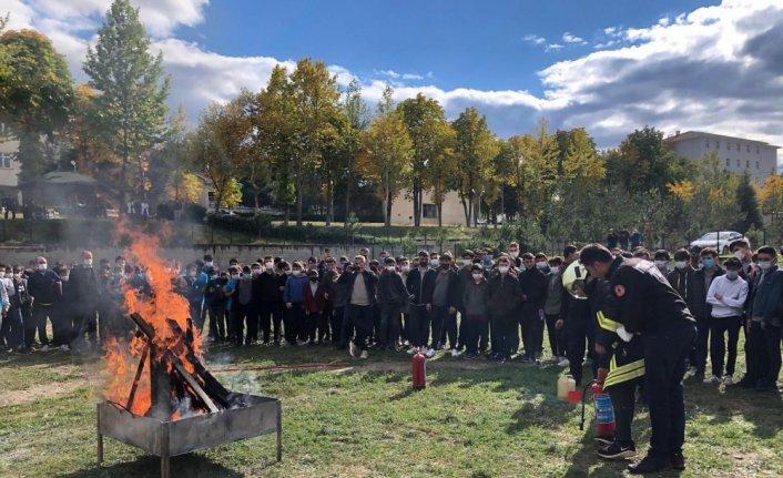 Taşköprü'de yangın tatbikatı yapıldı