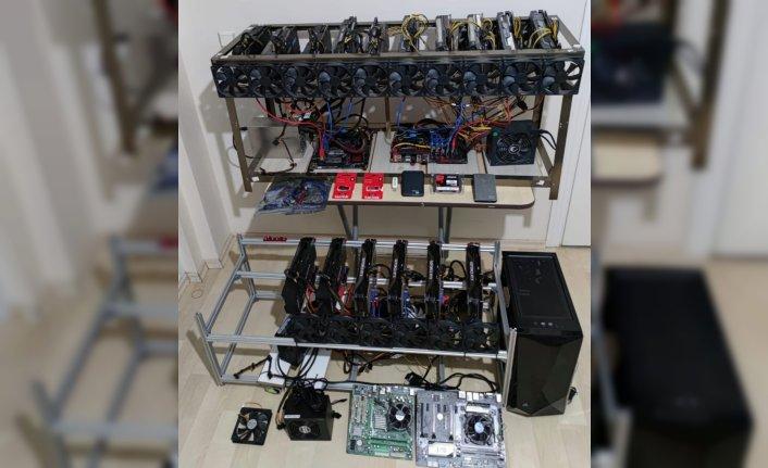Tokat'ta kaçak getirdiği cihazlarla kripto para üreten kişi yakalandı
