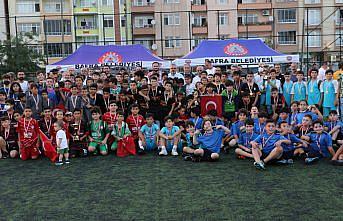 Bafra'da Zafer Bayramı futbol şenliği sona erdi