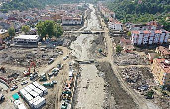 Bozkurt'taki sel felaketinin 15'inci gününde çalışmalar aralıksız sürüyor