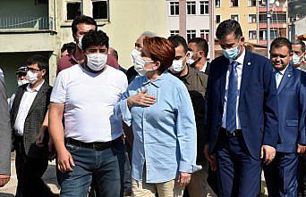 İYİ Parti Genel Başkanı Akşener, sel bölgesi Bozkurt'u ziyaret etti: