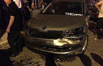 Samsun'da otomobilin çarptığı kişi yaralandı