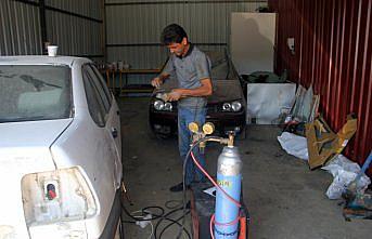 Ayancık'ta sel mağduru esnaf geçici inşa edilen iş yerlerinde hizmet vermeye başladı