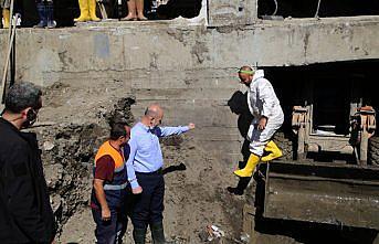 Bakan Soylu selden etkilenen Bozkurt'ta incelemelerini sürdürdü