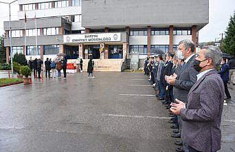 Bartın'da trafik kazasında ölen komiser yardımcısının cenazesi memleketine uğurlandı