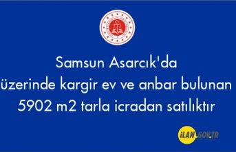 Samsun Asarcık'da üzerinde kargir ev ve anbar bulunan 5902 m² tarla icradan satılıktır