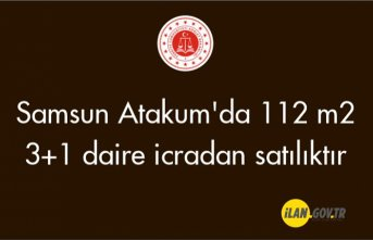 Samsun Atakum'da 112 m² 3+1 daire icradan satılıktır
