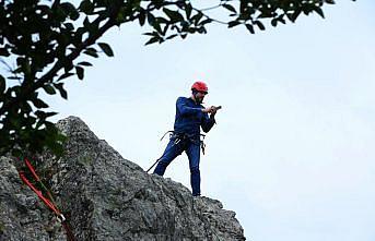 Yoroz Kent Ormanı dağcılık ve kaya tırmanışı sporcularından ilgi görüyor