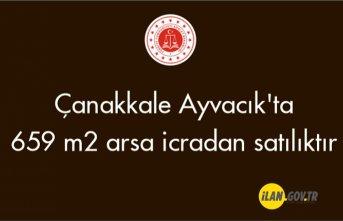 Çanakkale Ayvacık'ta 659 m² arsa icradan satılıktır