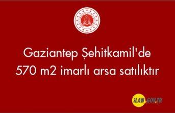 Gaziantep Şehitkamil'de 570 m² imarlı arsa mahkemeden satılktır