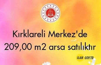 Kırklareli Merkez'de 209,00 m² arsa mahkemeden satılıktır