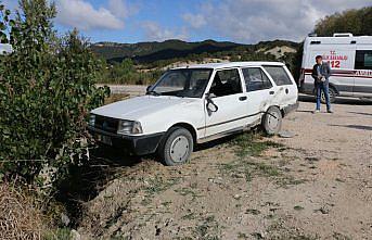Mudurnu'da otomobillerin çarpışması sonucu 1 kişi yaralandı