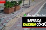 Bafra`da kaldırım çöktü