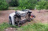 Amasya'da hafif ticari araç devrildi: 6 yaralı