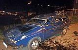 Amasya'da otomobil 3,5 metreden alt yola düştü: 2 yaralı