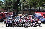 Samsun'da trafik kazası ve deprem tatbikatı