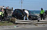 Samsun'da otomobil ile minibüs çarpıştı: 2 yaralı