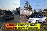 3 aracın karıştığı trafik kazasında teğmen yaralandı