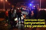 Şarampole düşen kamyonetteki 2 kişi yaralandı