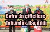 Bafra'da çiftcilere Tohumluk Dağıtıldı