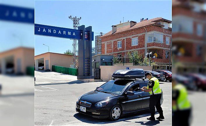 Kavak'ta jandarma trafik denetimlerini artırdı